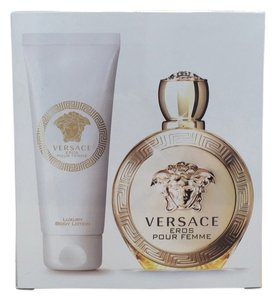 Versace Versace Eros Pour Femme 2pc Travel Set 3.4oz eau de Parfum spray + 3.4oz B/L for women. *Brand New*