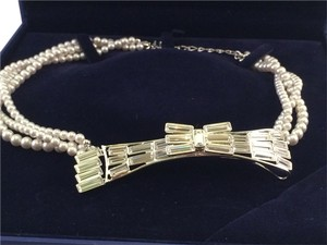 Swarovski Pearl Strand Necklace with Crystal Bow Detail