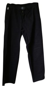 Larry Levine Stretchy Straight Pants Black