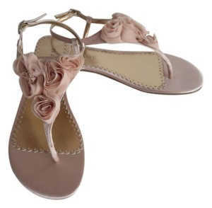 Rampage Floral Satin Size 8 Peach Sandals