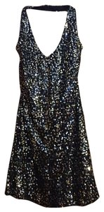 Speechless short dress Black & Silver Sparkles on Tradesy