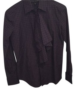 Ralph Lauren Black Label Button Down Shirt Purple and black