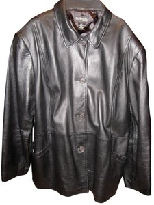 Style & Co Leather Plus Size Co. Trench Coat