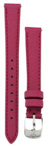 Michele MS12AA060650 Michele 12mm Strap Band Textured Pink Silver Buckle