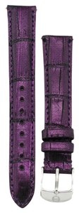 Michele Michele 16mm Plum Genuine Alligator Strap MS16AA510516 Deco 16 Lilou