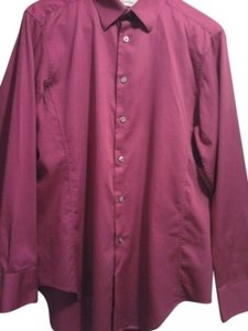 Calvin Klein Button Down Shirt Fushia