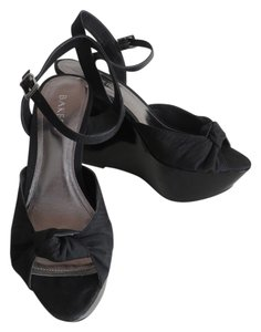 Bakers Peep Toe Platform Wedge Black Wedges