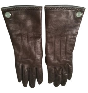 Coach Coach brown leather gloves