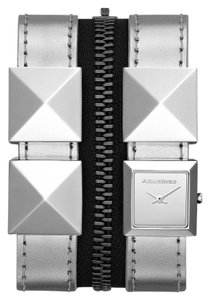 Karl Lagerfeld Karl Lagerfeld Zip Double Strap Women's Stainless Steel Watch KL2008 Silver