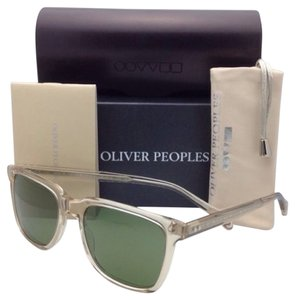 Oliver Peoples New OLIVER PEOPLES Sunglasses NDG-1 OV 5031-S 1094/52 Buff Frame w/ Green C Glass Lenses