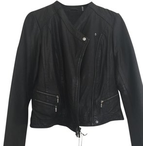 Cole Haan Leather Asymmetrical Leather Jacket