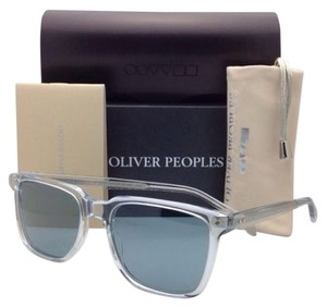 Oliver Peoples New OLIVER PEOPLES Sunglasses NDG-1 OV 5031-S 1101/82 Crystal - Clear with Blue lenses