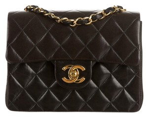 Chanel Classic Flap Mini Lambskin Cc Shoulder Bag