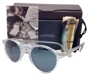 Oliver Peoples OLIVER PEOPLES Sunglasses GREGORY PECK OV 5217-S Clear Frame w/ Photochromic Indigo Blue lenses