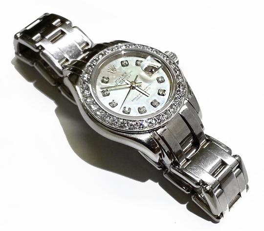 rolex datejust pearlmaster white mother of pearl dial 18. Black Bedroom Furniture Sets. Home Design Ideas
