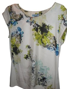 Cynthia Rowley Top White, Blue