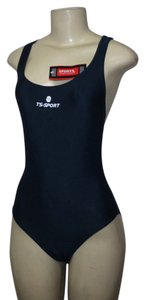 TS-SPORT NEW TS-Sport Ladies Racing Swimsuit LARGE Navy Swim Suit Blue RACERBACK