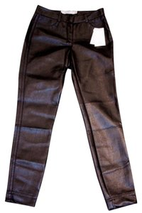 Robert Rodriguez Pleather Leather Skinny Pants Black