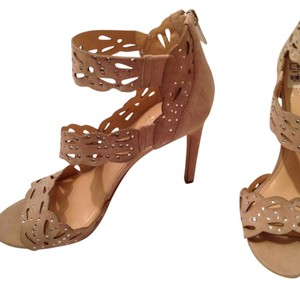Vince Camuto Suede Nude Stiletto Embellished Pump nude suede Sandals
