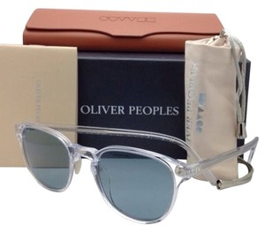 Oliver Peoples New OLIVER PEOPLES Sunglasses FAIRMONT SUN OV 5219-S 1101/56 Clear Frame w/ Blue Lenses
