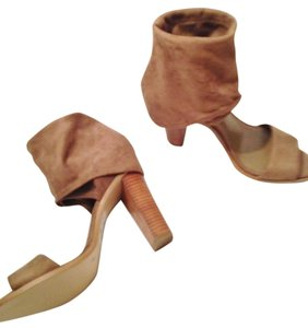BCBGeneration Suede Stacked Heel Slouch Taupe/tan Sandals