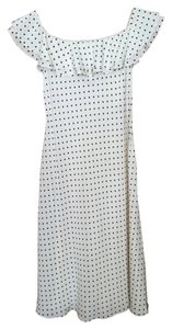Ralph Lauren short dress Silk - white/black dots on Tradesy