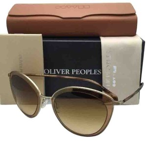 Oliver Peoples New OLIVER PEOPLES Sunglasses GWYNNE OV 1178S 52362L Brushed Soft Gold w/ Amber Gradient Lenses