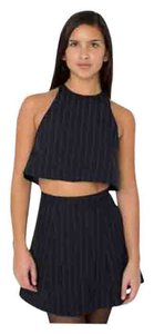 American Apparel short dress Navy blue with white stripes on Tradesy