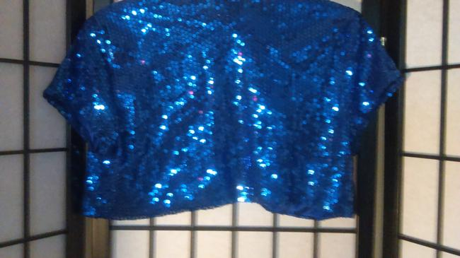 Charlotte Russe Sequin Sparkle Sexy blue Jacket