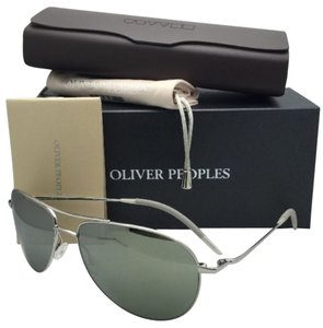 Oliver Peoples New OLIVER PEOPLES Sunglasses BENEDICT OV 1002S 50365C Silver Aviator Frame w/ Mirror