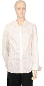 Giorgio Armani Cotton Button Blouse Button Down Shirt White