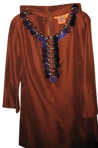 Tory Burch Tunic With Pants Top Rust, Burnt Umber, Purple
