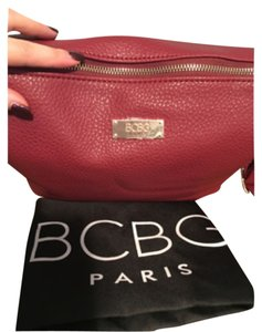 BCBG Paris Leather Satchel Cross Body Bag