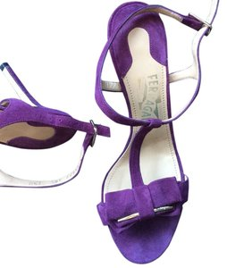 Salvatore Ferragamo Purple Pumps