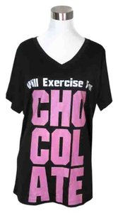 Sport Tek Athletic Performance Workout Graphic Tee Black XL Will Exercise For Chocolate