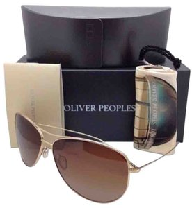 Oliver Peoples Polarized OLIVER PEOPLES Sunglasses KEMPNER OV 1166ST 5035/T5 Gold Frame w/ Brown Fade