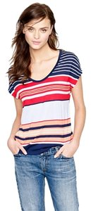 J.Crew Modal Stripes Nwt New With Tags T Shirt Multi/Stripe