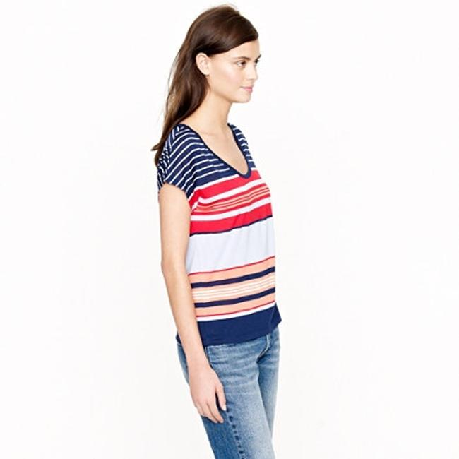 J.Crew Modal New With Tags T Shirt Multi/Stripe