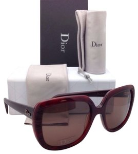Dior New CHRISTIAN DIOR Sunglasses DIOR TAFFETAS 1 2F5SB Red on Tortoise Frame w/Brown lenses