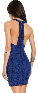 Line & Dot Lace Racer-back Evening Out Date Night Cocktail Dress