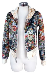 Christian Audigier Reversible Tattoo Sweatshirt