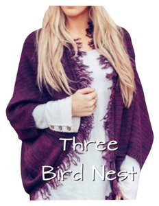 Three Bird Nest Poncho Cocoon Cardigan