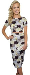OASAP Floral Bodycon Party Cocktail Dress