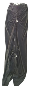 Jean-Paul Gaultier Maxi Skirt Black with Silver Detail