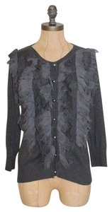 Romeo & Juliet Couture Frayed Ruffle Cardigan