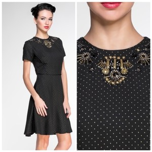 Marchesa Voyage Embellished Dot Dress