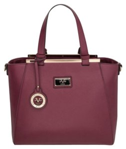 Versace 19.69 Abbiglianmento Sportivo Lexington Tote Handbag Satchel in Burgundy
