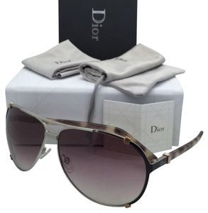 Dior New CHRISTIAN DIOR Sunglasses DIOR CHICAGO 2 UPVFM Silver-Brown & Gold Frame w/ Brown Fade