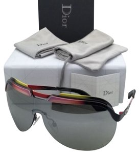 Dior New CHRISTIAN DIOR Sunglasses DIORSOLAR 6ORSS Black-Pink-White-Red Frame w/ Silver Mirror