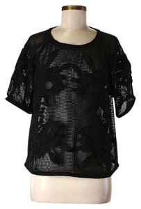 Topshop Sheer Top Black